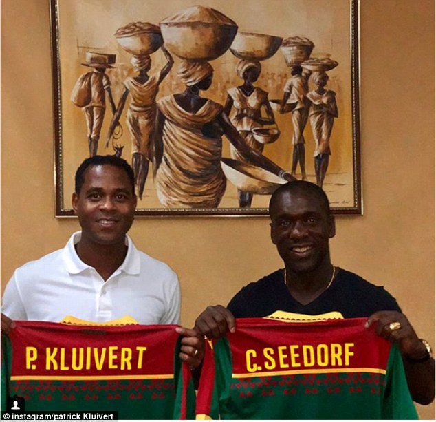 Seedorf and Kluivert have been tasked with retaining the AFCON for Cameroon