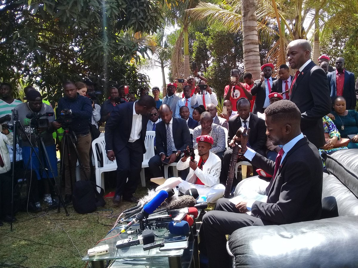 Kyadondo East MP Robert Kyagulanyi alias Bobi Wine has vowed to take on Ugandan security forces over brutality and has rallied for unity (FILE PHOTO)