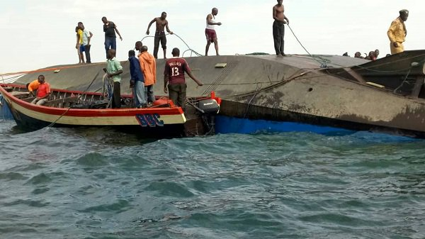 Fishermen join rescue workers in search of the missing persons as over 225 people are confirmed dead in the ferry, MV Nyerere (FILE PHOTO)