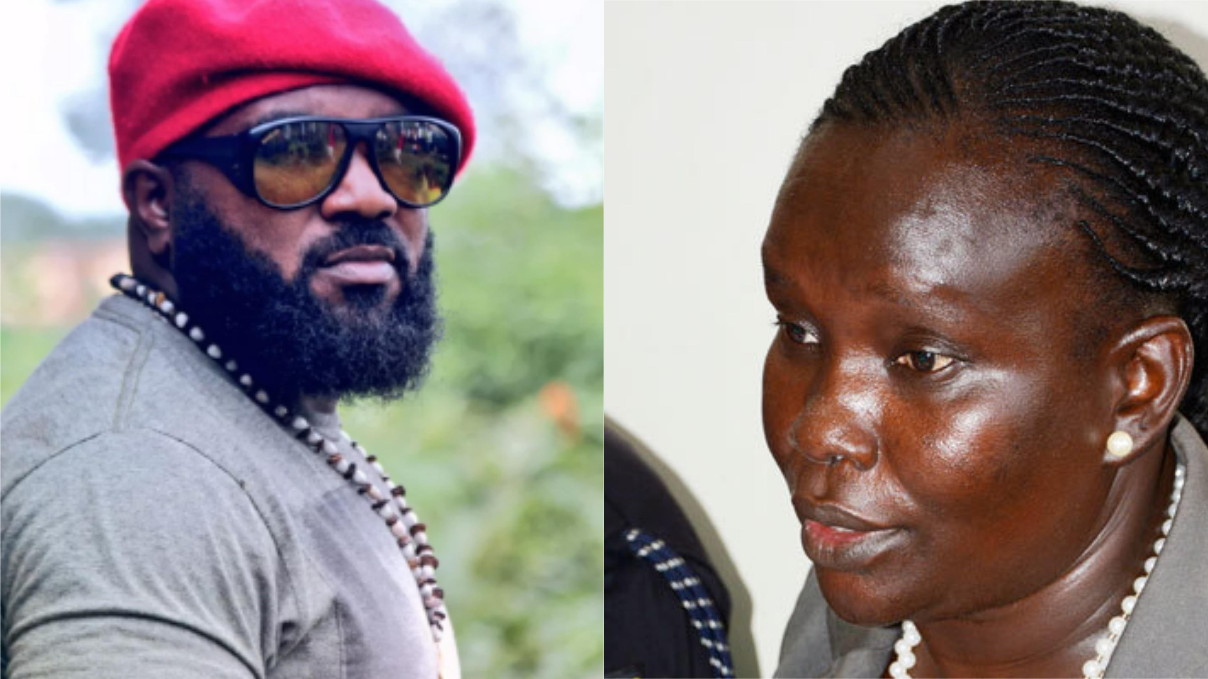 Lawyers of Kyadondo East MP Robert Kyagulanyi's bodyguard, Eddie Mutwe(L) have vowed to drag Director CIID, Gace Akullo (R) to court seeking his unconditional release (PML Daily PHOTO MONTAGE)