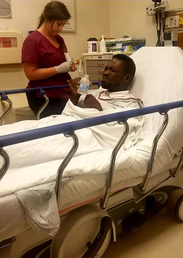 Kyadondo East MP Robert Kyagulanyi receives treatment at a health facilty in Washington DC, US. (FILE PHOTO)