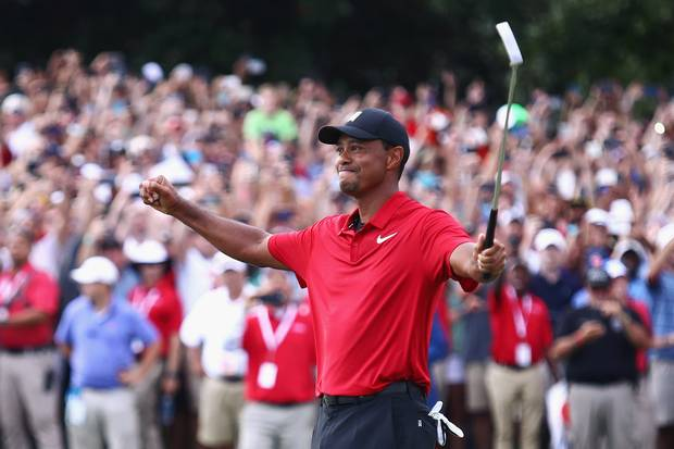 This was woods 80th PGA Championship