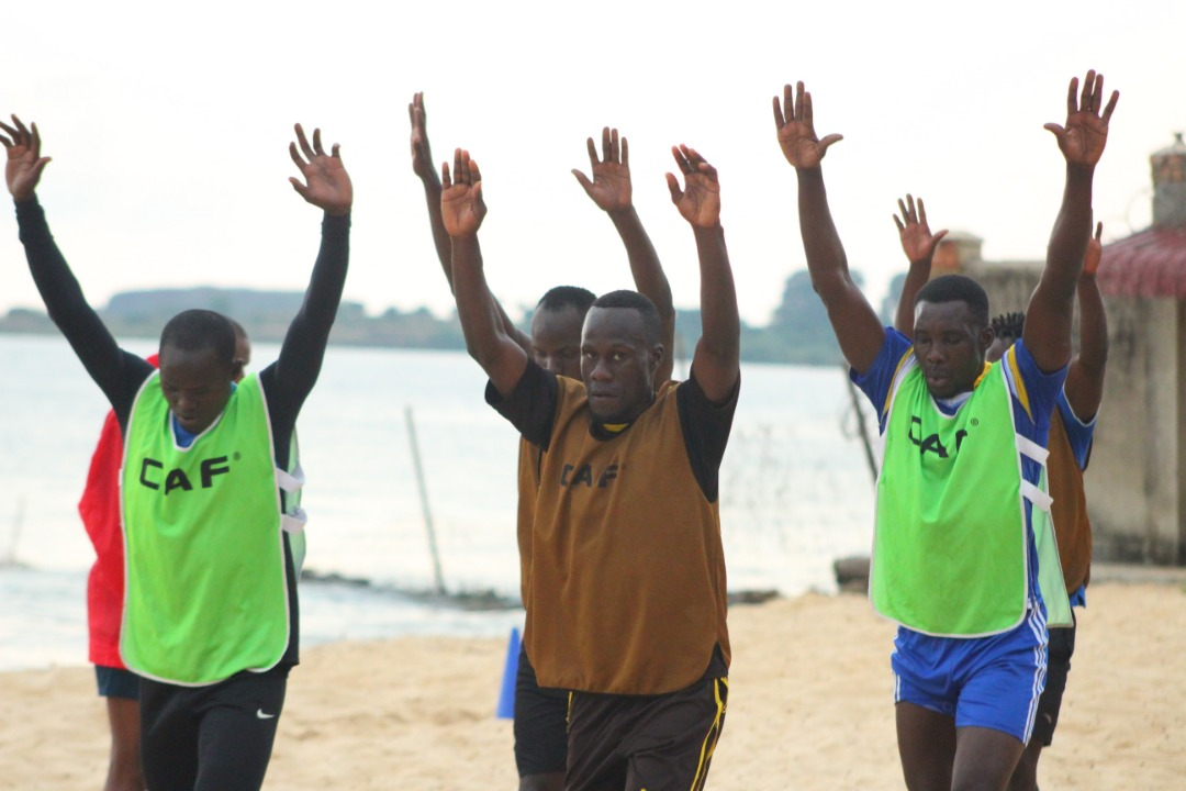 Some of the Sand Cranes players in training this week (Photo by FUFA Media)