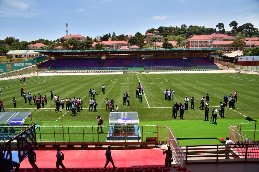 An aerial view of the newly refurbrished St. mary's Stadium in Kitende