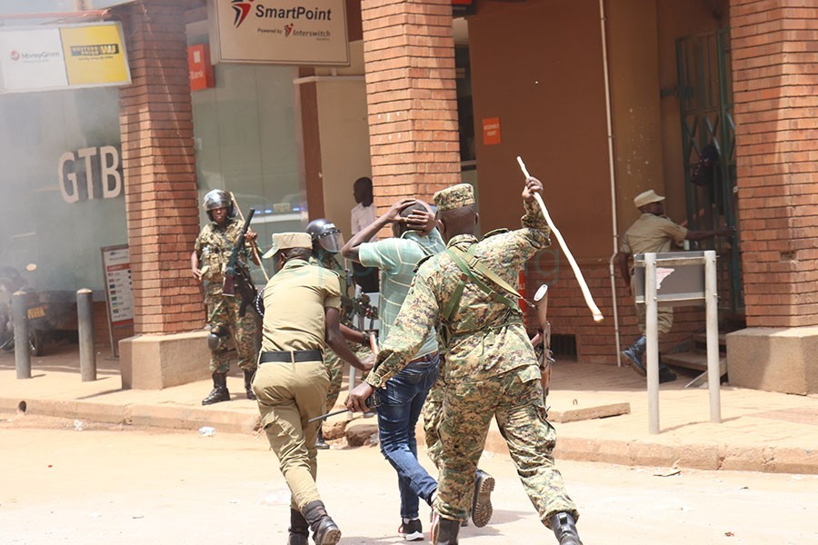Security officers have often brutalisedpeaceful protestors and journalists. Parliament has stepped in to investigate the latter. (FILE PHOTO)
