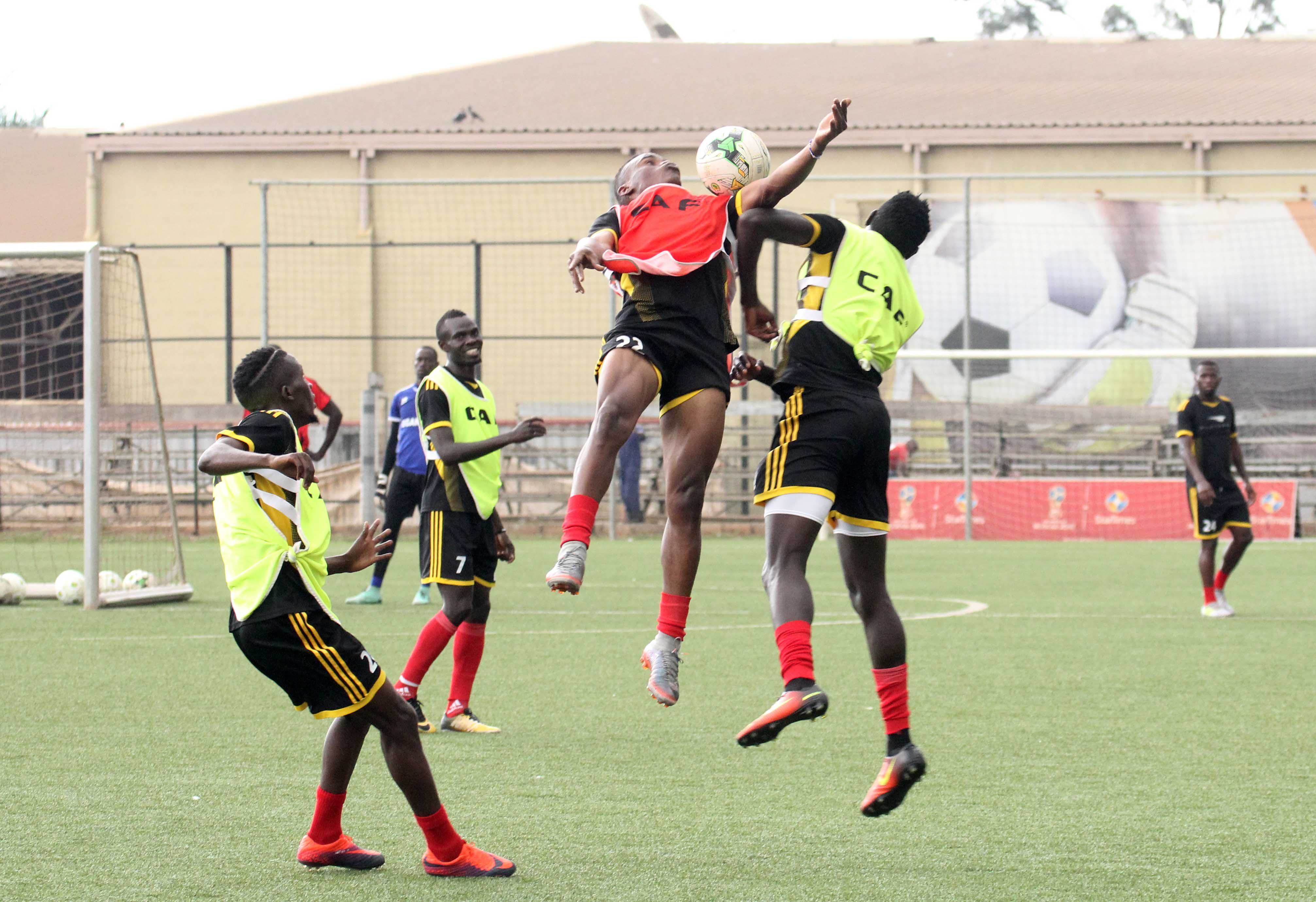 The Cranes have been training at StarTimes stadium since Saturday (Photo by FUFA Media)