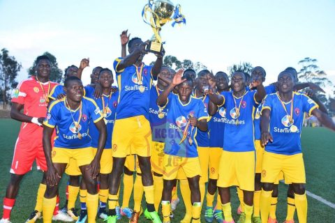 KCCA FC celebrating their truimp on Saturday evening (Photo by KCCA FC Media)