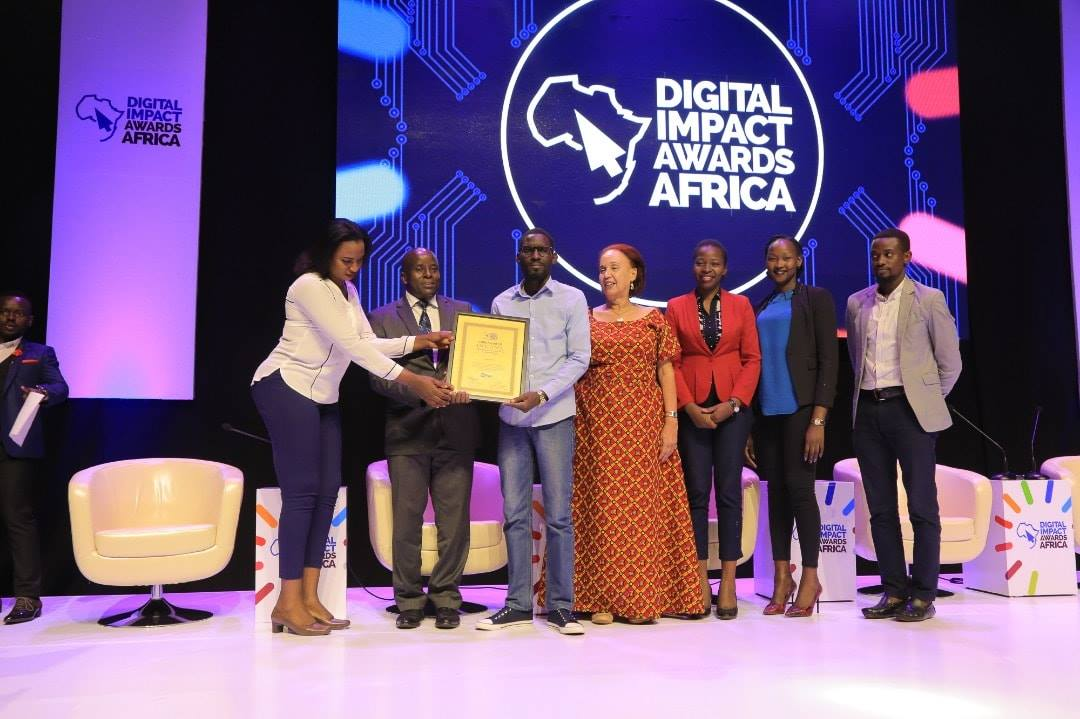 NWSC team accept one of the accolades of the most prestigious Digital Impact Awards held Froday September 21 (PML Daily PHOTO)