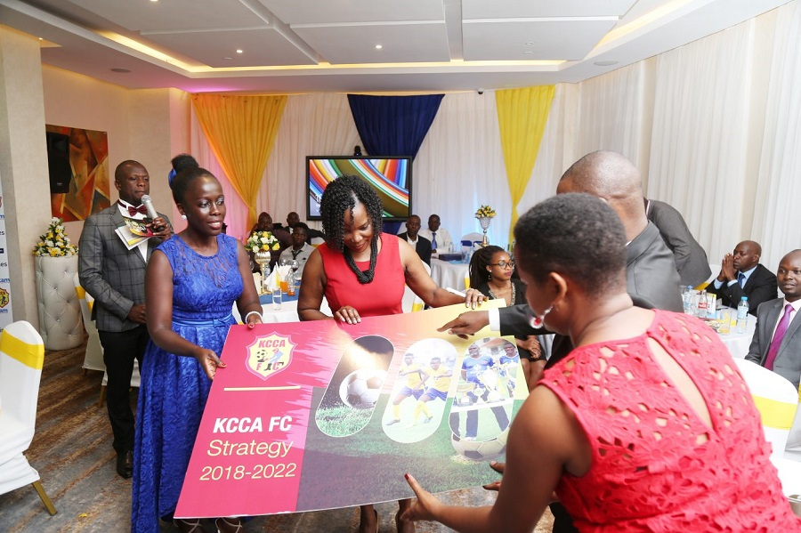 Josephine Namukasa (left) has been KCCA FC CEO since July 2017 (file photo)