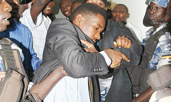 MP Allan Ssewanyana and others were arrested Thursday September as they attempted to head to Entebbe Airport to receive Kyadondo East MP Robert Kyagulanyi alias Bobi Wine (FILE PHOTO)