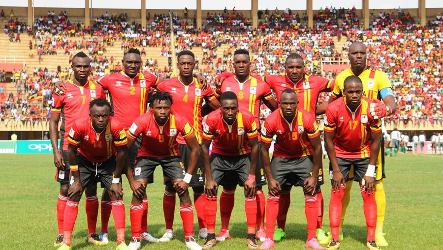 Uganda sits atop Group L in the 2019 AFCON qualifiers (file photo)