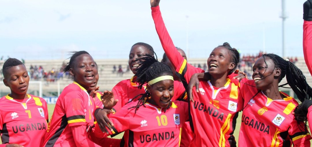 The Crested Cranes celebrating one of the four goals they scored against Swaziland in the first game (file photo)