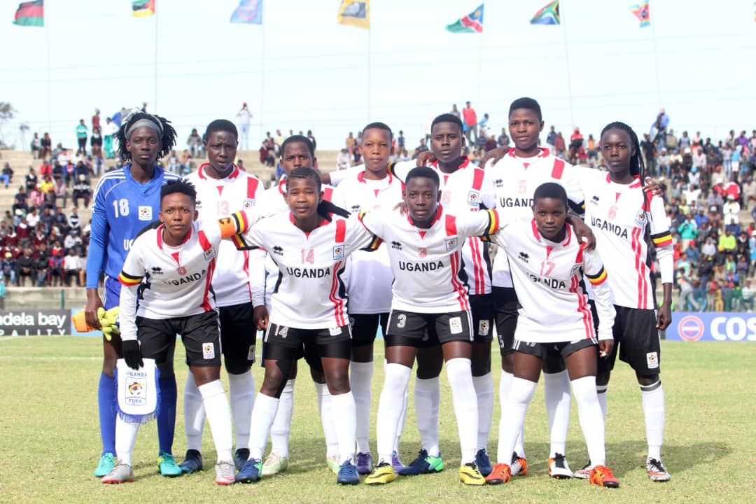 The Crested Cranes team that started against South Africa on Thursday (photo by FUFA Media)