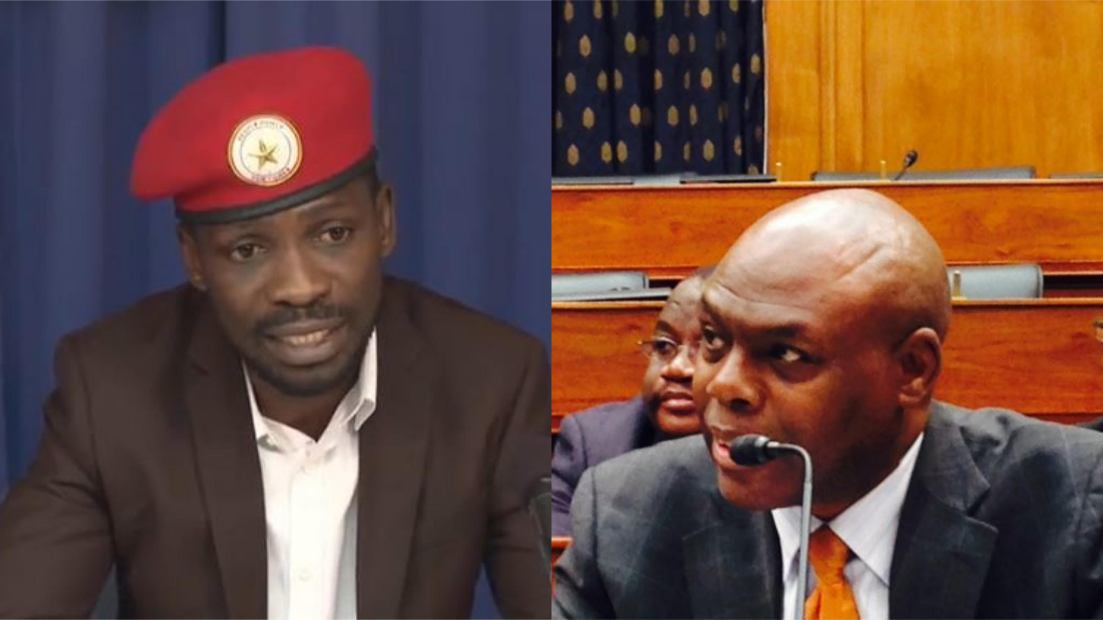Kyadondo Easr MP Robert Kyagulanyi aka Bobi Wine is set to feature on Voice of America's Straight Talk Africa hosted by Ugandan-American veteran journalist, Shaka Ssali (FILE PHOTO MONTAGE)