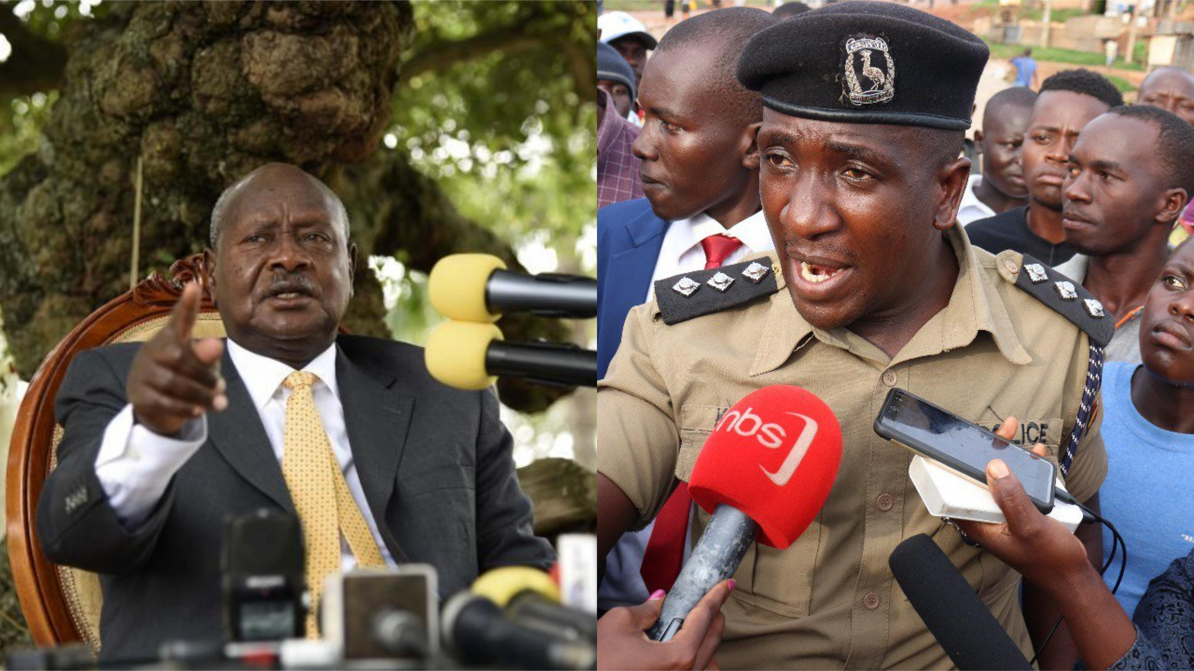 Residents in Bulenga expressed dissatisfaction to the President Museveni as he visited the crime scene of ex - Buyende DPC Muhammad Kirumira subsequent to his assassination September 08 (FILE PHOTO MONTAGE)