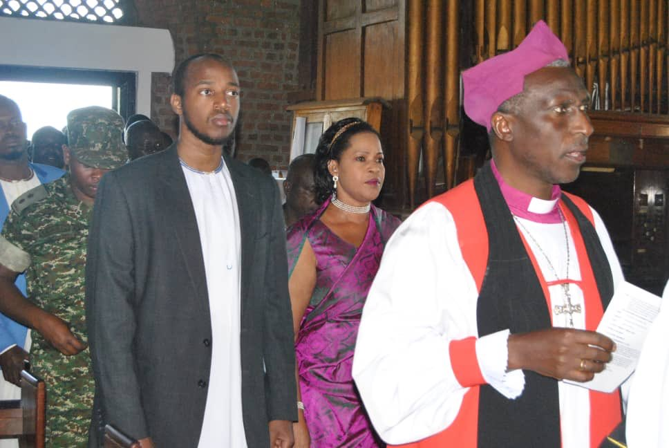 The king of Toro Oyo Nyimba Kabamba Iguru Rukidi IV arrives at St Johns Cathedral for prayers ahead of his 23rd Coronation Anniversary (PML Daily PHOTO)