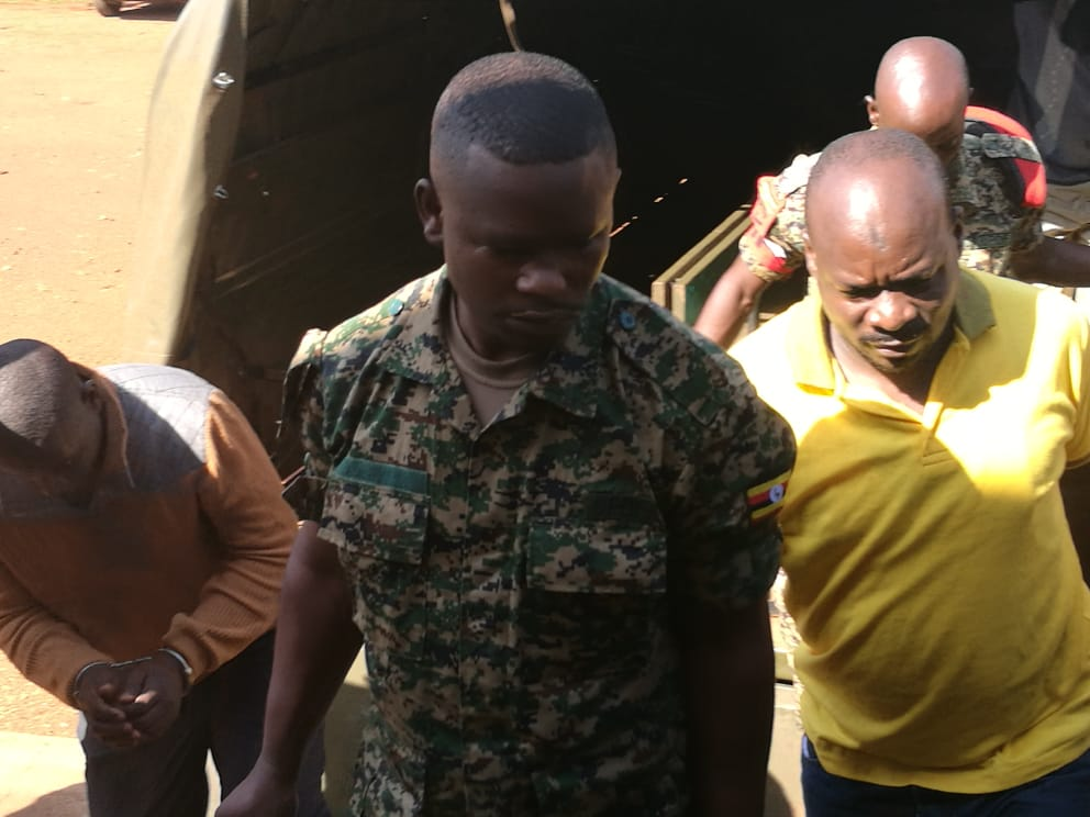 The embattled ex-BodaBoda 2010 boss, Abdallah Kittaata arrives at the General Court Martial in Makindye (PHOTO/File)