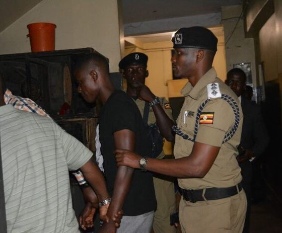 City socialite, Sipapa arrested for assulting a journalist while covering a story of him (Sipapa) being chased out of house for failing to pay rent. (PML Daily Photo)