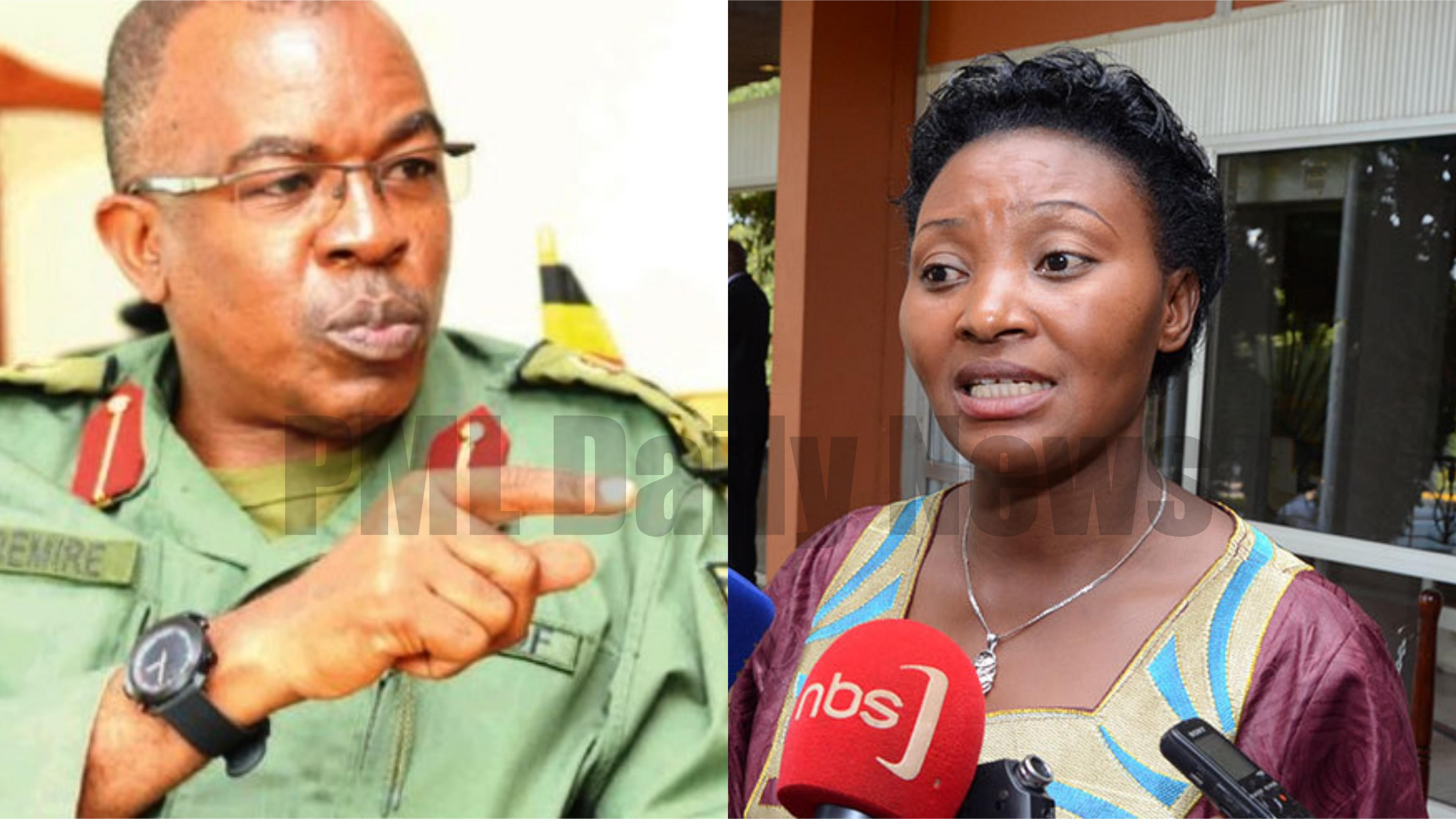 UPDF Spokesperson Brig. Richard Karemire has refuted claims by Former Leader of Opposition, Winnie Kiiza that the army has deployed at her residence in Kiburara, Kasese (FILE PHOTO)