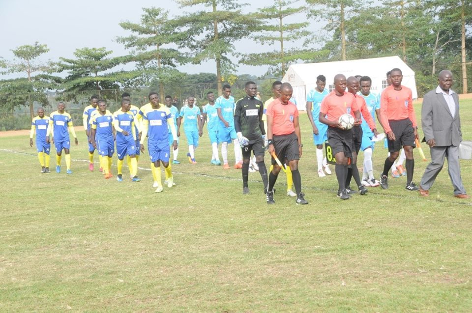 Ndejje (blue and yellow) have won one and lost the other of their two games in the top flight (Photo by Ndejje media)