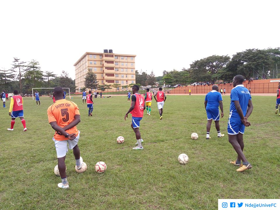 Ndejje players going through training earlier this week (Photo by Ndejje)