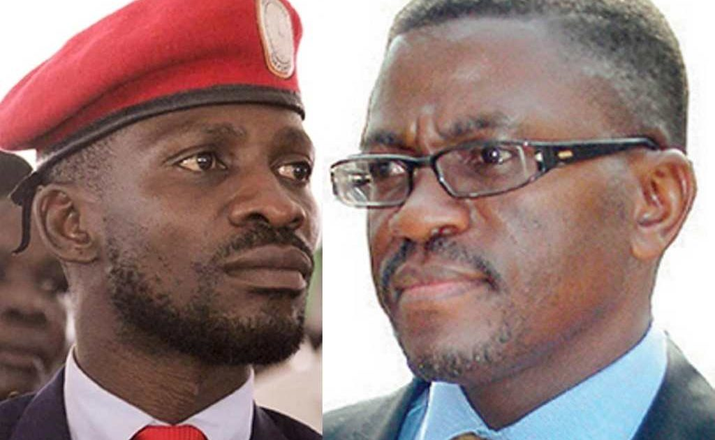 Kyadondo East MP Robert Kyagulanyi alias Bobi Wine and Buganda Prime Minister Charles Peter Mayiga (FILE PHOTO)
