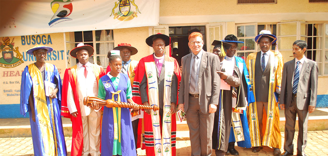 Busoga University procession at a recent graduation. The high Institution's woos have castigated the IGG to order their immediately refund