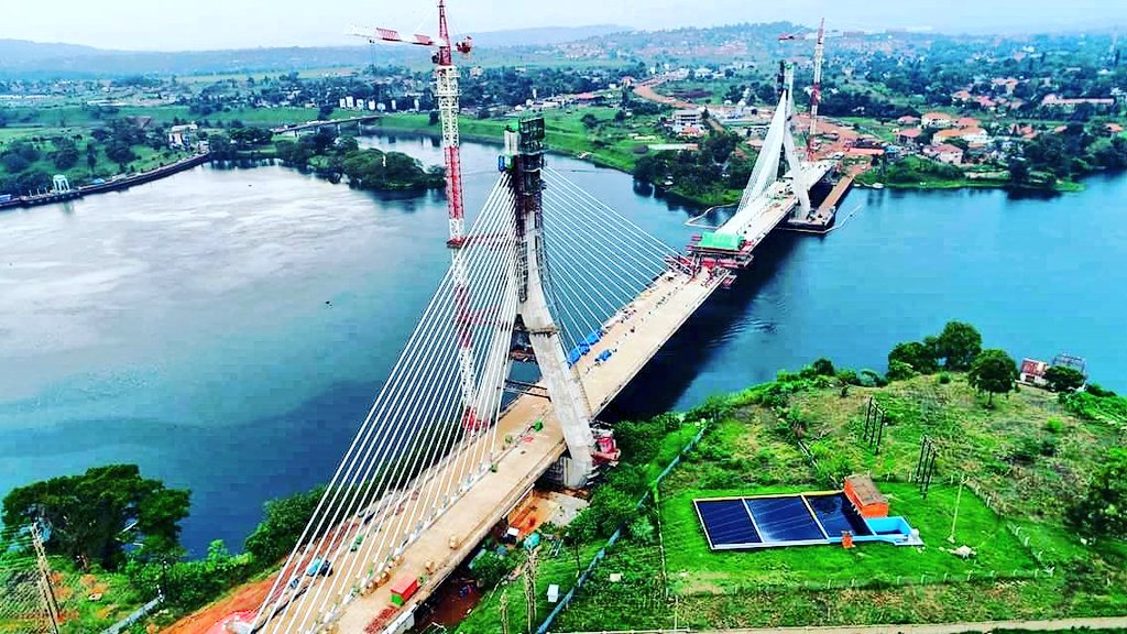 The magnificent Nile Bridge is set to be commissioned by President Museveni on Wednesday October 17, 2018 (FILE PHOTO)