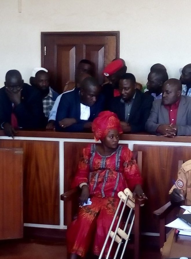MPs Robert Kyagulanyi (Kyadondo East), Kassiano Wadri (Arua Municipality) and other have on Monday October 1 appeared in Gulu Magistrate Court to answer Treason charges (PML Daily PHOTO)