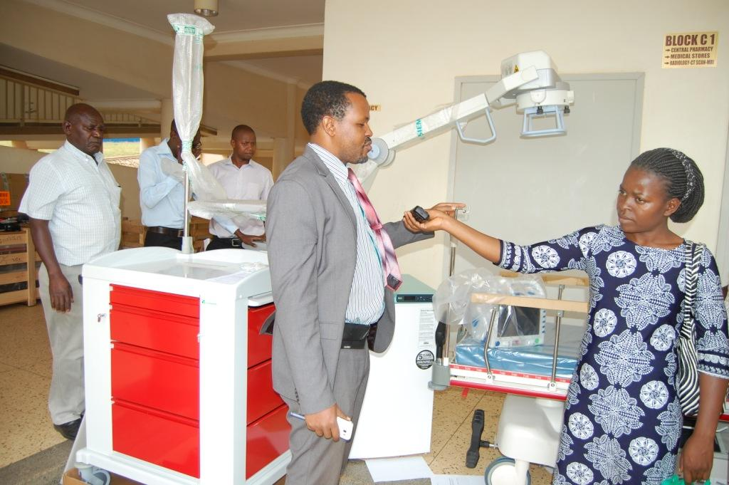 Hospital director Dr. Celestine Barigye speaking to journalists on Tuesday (1)