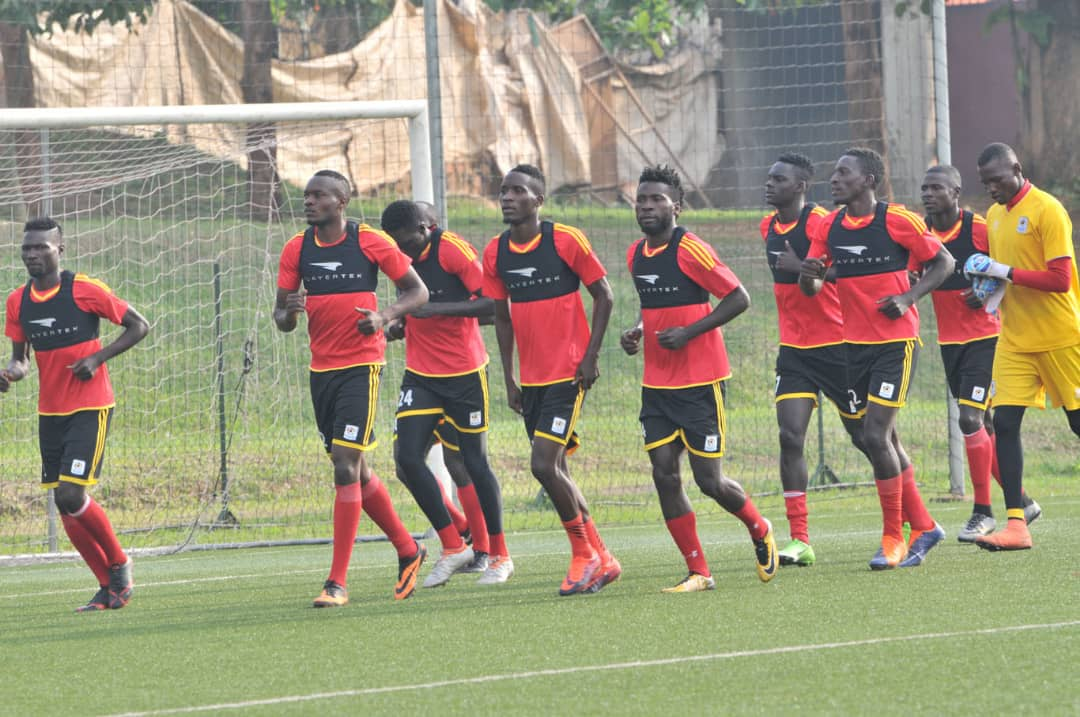 The Cranes players in training on Friday morning