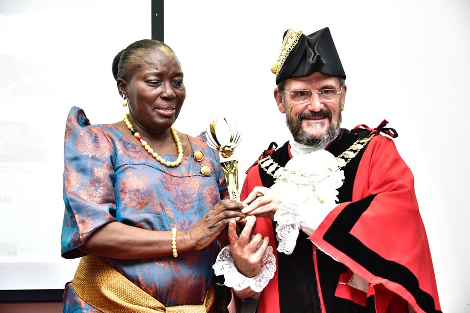 Rt. Hon. Kadaga receives international accolade over her excellent work as Parliament Speaker (WESTMINISTER PHOTO)