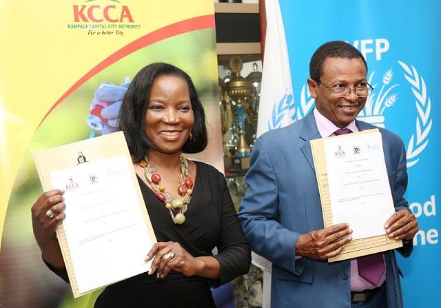 Jennifer Musisi Semakula, Executive director KCCA El Khidir Daloum, Country Director WFP