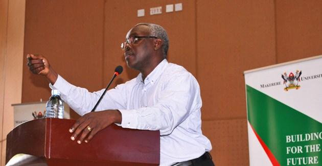 Vision Group CEO-Mr. Robert Kabushenga urged the 9th Pakasa Forum Audience to think of the impact of technology on future business (PML Daily PHOTO)