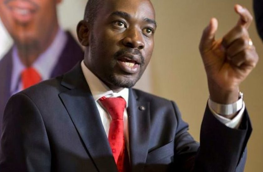 MDC president Nelson Chamisa joins the youthful political leaders in the fight for democracy and citizens' right of leadership across Africa (FILE PHOTO)