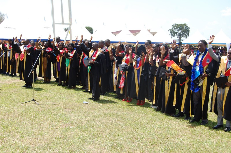 Pioneer graduate doctors of Busitema University during the 9th graduation of Busitema University as understaffing remains a challenge at the Tororo-based university (PML Daily PHOTO)