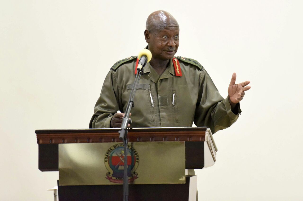 President Museveni has reshuffled to military officers in new shakeup (FILE PHOTO)