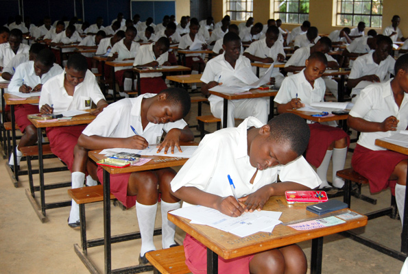 Senior Four candidates sitting for their UNEB. (FILE PHOTO)