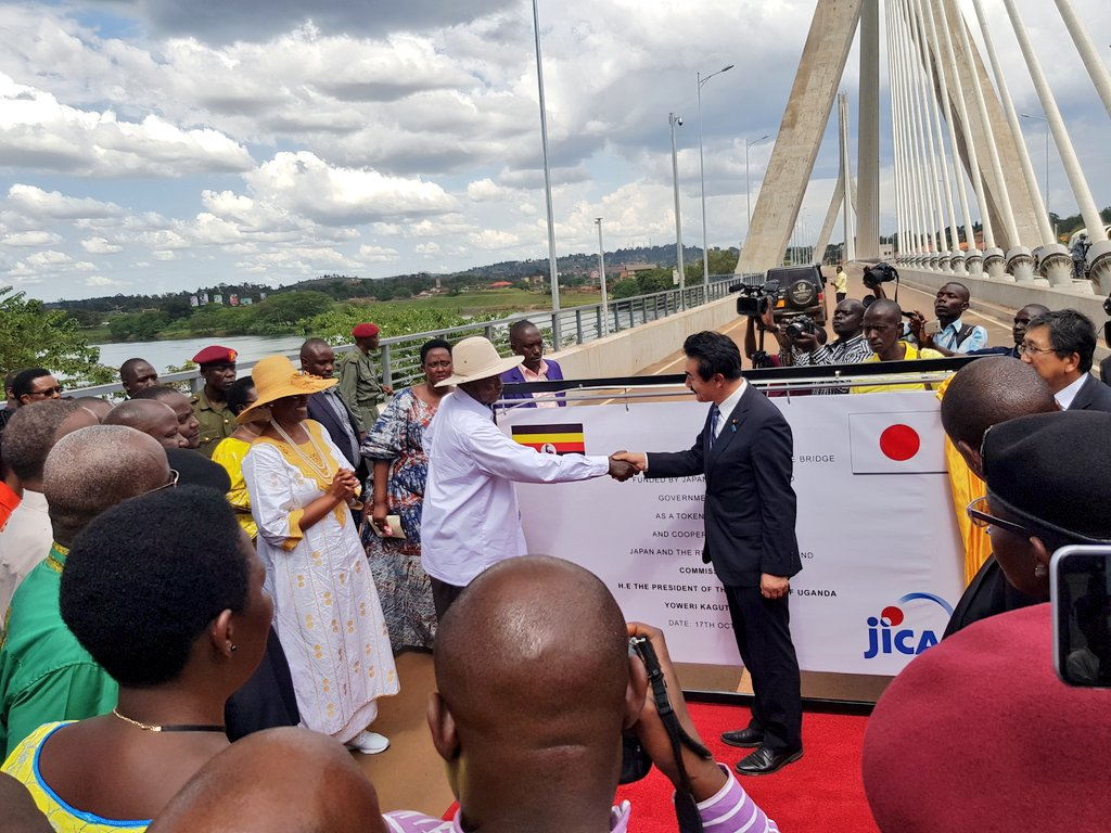 President Museveni officially commissions the source of Nile Bridge in Jinja Wednesday October 17 (PML Daily PHOTO)
