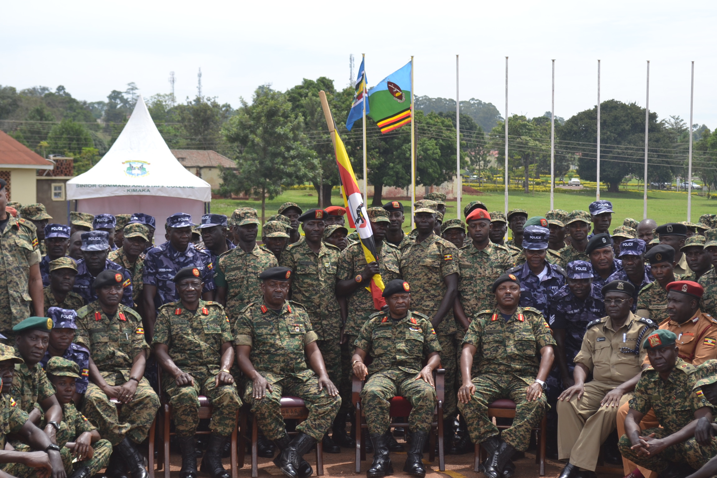 Deputy Chief of Defence Forces (UPDF), Maj Gen Wilson Mbadi flags off over 200 military officers (FILE PHOTO)