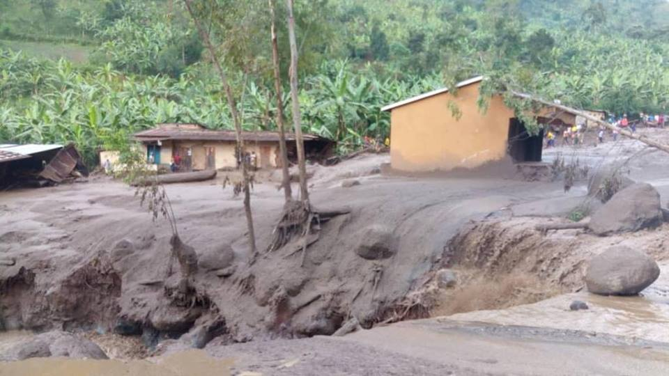 Lives lost and properties destroyed in October 11 Bududa landslides. (FILE PHOTO)