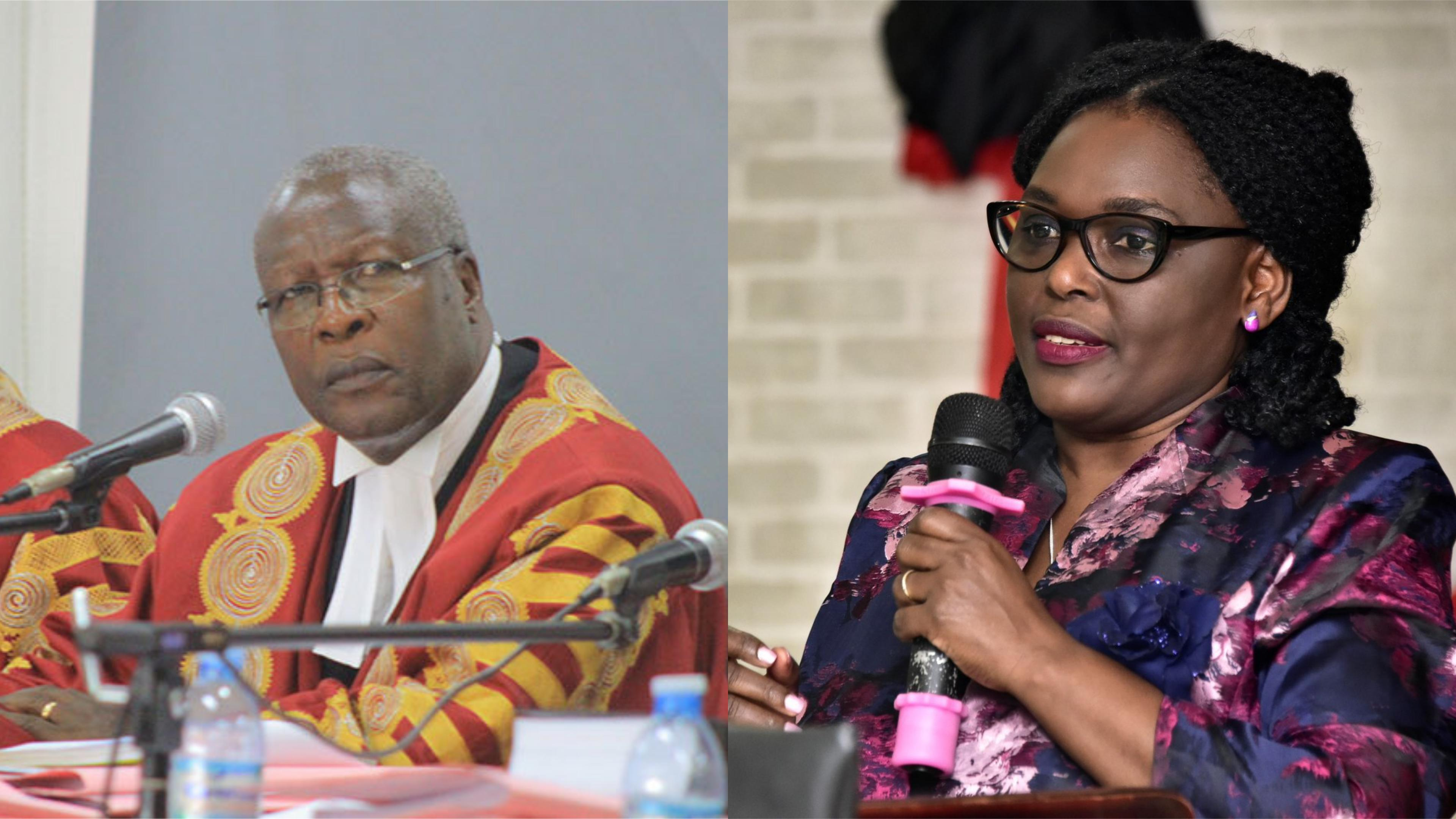 Chief Justice Bart Katureebe has blasted Lady Justice Catherine Bamugemereire in a fresh row (FILE PHOTO)