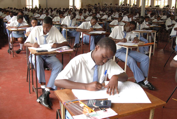 Students in an examination. The Sauti Ya Wananchi report, by Twaweza, has revealed that section of parents has called for the suspension and shut down of schools engage in exam malpractice (FILE PHOTO)