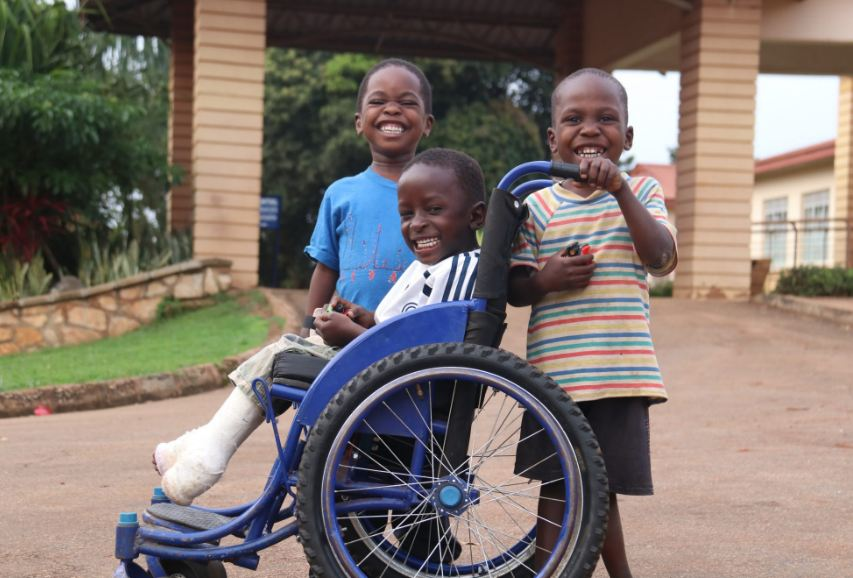 Children receiving treatment at CORSU enjoy a moment of joy. CORSU has been dragged to court (FILE PHOTO)