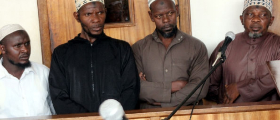 Sheikh Yahaya Mwanje (right) and others in the dock recently. He has petitioned ICD at the High Court (FILE PHOTO)