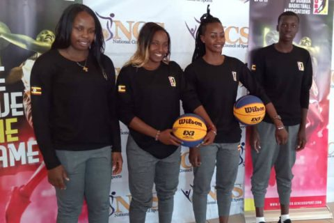 Team Uganda at the flag off in Lugogo (photo by Agency)