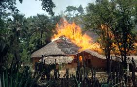 Man sets house  in Agogo sets house on fire
