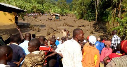 Heavy rains devastate Bududa district Mudslide buries several, number expected to grow as heavy rains continue to fall (PML Daily PHOTO)