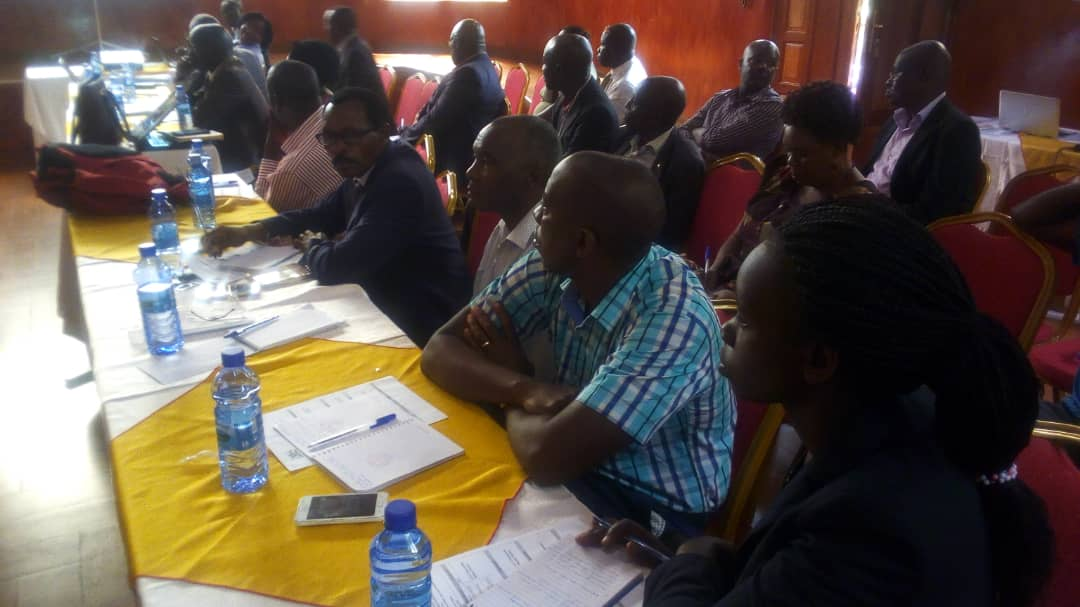 Members of the public from Bunyoro sub-region attending the a meeting organized by  Ministry of lands, housing and Urban development on land acquisition, resettlement and rehabilitation policy and land acquisition bill 2018  at Miika Resort Hotel in Hoima.