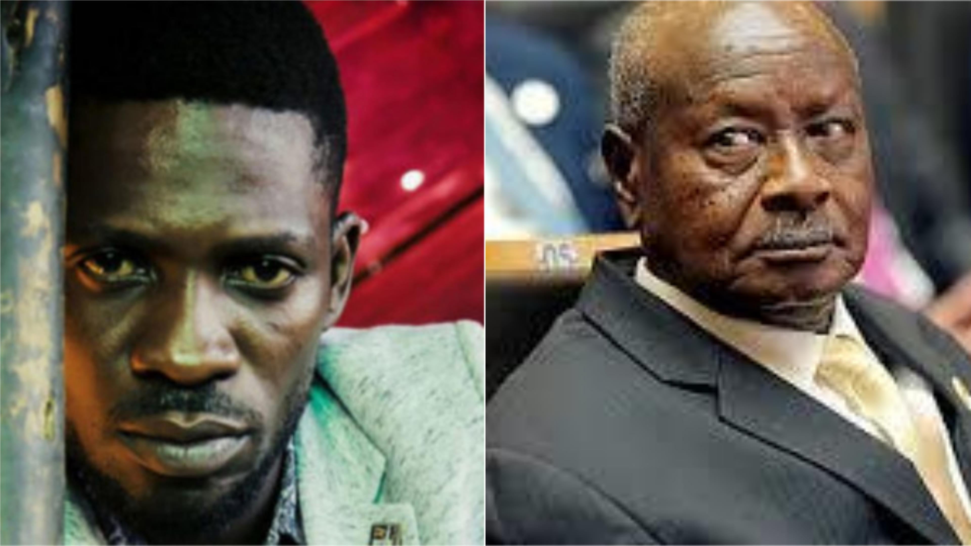 Hon. Kyagulanyi Ssentamu alias Bobi  Wine says he can beat President Museveni hands down in an election. (FILE PHOTO).